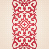 Vector baroque border in Victorian style. Stock Photos