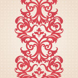 Vector baroque border in Victorian style. Royalty Free Stock Photo