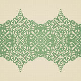 Vector baroque border in Victorian style. Element for design. You can place the text in an empty frame. It can be used for decorating of invitations, greeting Royalty Free Stock Photos