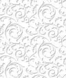 Vector baroque damask white elegant lace texture royalty free illustration