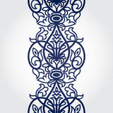 Vector baroque endless border in Victorian style. Element for design. Place for your text. It can be used for decorating of wedding invitations, greeting cards Stock Image