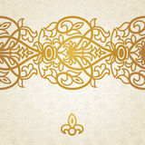 Vector baroque endless border in Victorian style. Royalty Free Stock Photo