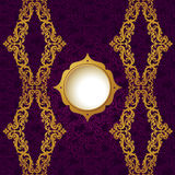 Vector baroque endless border in Victorian style. Royalty Free Stock Image