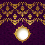 Vector baroque endless border in Victorian style. Stock Photography