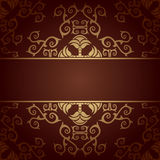 Vector baroque flowers background Stock Images