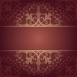 Vector baroque flowers background red Stock Photos