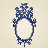 Vector baroque frame in Victorian style. Coat of arms with place for text. Vector baroque frame in Victorian style. Ornate element for design. Ornamental floral Royalty Free Stock Images