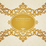 Vector baroque frame. Royalty Free Stock Image