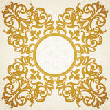 Vector baroque frame in Victorian style. Element for design. You can place the text in an empty frame. It can be used for decorating of invitations, greeting Stock Image
