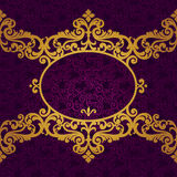 Vector baroque frame in Victorian style. Element for design. You can place the text in an empty frame. It can be used for decorating of invitations, greeting Stock Photography