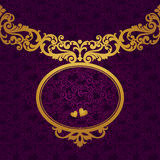 Vector baroque frame in Victorian style. Element for design. You can place the text in an empty frame. It can be used for decorating of invitations, greeting Royalty Free Stock Image