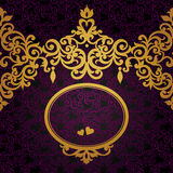 Vector baroque frame in Victorian style. Element for design. You can place the text in an empty frame. It can be used for decorating of invitations, greeting Royalty Free Stock Photography