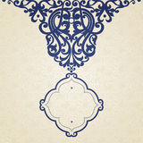 Vector baroque frame in Victorian style. Royalty Free Stock Image