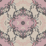 Vector baroque. Vector illustration. luxury texture for wallpapers, fabric patterns Baroque, Damask seamless floral pattern Royalty Free Stock Photography