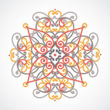 Vector baroque ornament in east style. Royalty Free Stock Photo