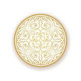 Vector baroque ornament in east style. Royalty Free Stock Photos