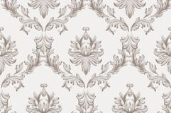 Vector Baroque ornament pattern background. Vintage handmade rich decor fabric textures. Vector Baroque ornament pattern background. Vintage handmade rich decor Royalty Free Stock Photography