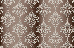 Vector Baroque ornament pattern on shinny gradient background Royalty Free Stock Images