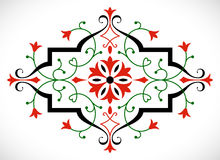 Vector baroque ornament in Victorian style. Stock Image