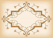 Vector baroque ornament in Victorian style. Stock Photo