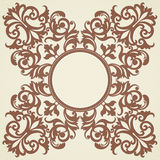 Vector baroque ornament in Victorian style. Element for design. You can place the text in an empty frame. It can be used for decorating of invitations, greeting Royalty Free Stock Images