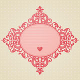 Vector baroque ornament in Victorian style. Element for design. You can place the text in an empty frame. It can be used for decorating of invitations, greeting Stock Photos