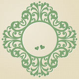 Vector baroque ornament in Victorian style. Element for design. You can place the text in an empty frame. It can be used for decorating of invitations, greeting Royalty Free Stock Photo