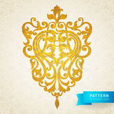 Vector baroque ornament in Victorian style. Ornate element for design. Toolkit for designer. It can be used for decorating of wedding invitations, greeting Royalty Free Stock Images