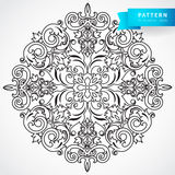 Vector baroque ornament in Victorian style. Ornate element for design. Toolkit for designer. It can be used for decorating of wedding invitations, greeting Royalty Free Stock Photos