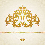Vector baroque ornament in Victorian style. Ornate element for design. Toolkit for designer. It can be used for decorating of wedding invitations, greeting Royalty Free Stock Photo