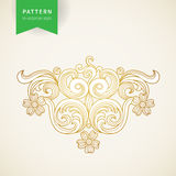 Vector baroque ornament in Victorian style. Royalty Free Stock Photography