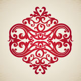 Vector baroque ornament in Victorian style. Stock Images