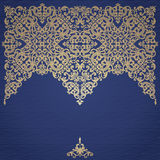 Vector baroque ornament in Victorian style. stock illustration