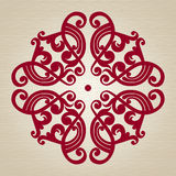 Vector baroque ornament in Victorian style. Royalty Free Stock Photo