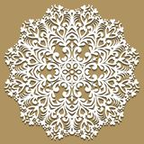 Vector baroque ornament in Victorian style. Ornate element for design. Toolkit for designer. Traditional floral decor. Round eleme Stock Photo