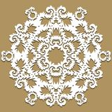Vector baroque ornament in Victorian style. Ornate element for design. Toolkit for designer. Traditional floral decor. Royalty Free Stock Photography
