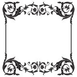 Vector baroque ornament in victorian style royalty free stock photos