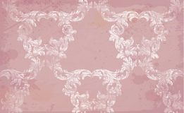 Vector Baroque pattern in pink color. Handmade decors. Vector Baroque pattern in pink color. Handmade decor Stock Images