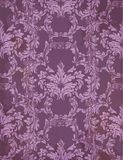 Vector Baroque rich pattern in violet color. Intricate design ornament. Illustration Royalty Free Stock Photo