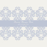 Vector Baroque Vintage Damask card Stock Photography