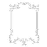 Vector baroque of vintage elements for design. Royalty Free Stock Image