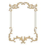 Vector baroque of vintage elements for design. Royalty Free Stock Photo