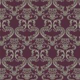 Vector Baroque Vintage floral damask pattern element background Stock Images