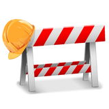 Vector Barrier with Helmet Stock Images
