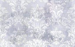 Vector barroco del modelo de la textura Decoración del ornamento floral Diseño retro grabado victoriano Tela del grunge del vinta stock de ilustración