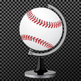 Vector baseball. Baseball globe  over transparent background. Vector illustration. Vector baseball globe  over transparent background Royalty Free Stock Photography