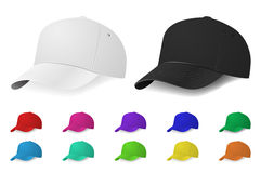 Vector baseball cap set Royalty Free Stock Photography
