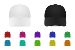 Vector baseball cap set Royalty Free Stock Images