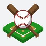 Vector baseball composition Stock Photography