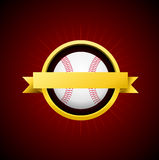 Vector Baseball Emblem Royalty Free Stock Image